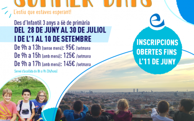 Summer Days 2021. Escuela de Verano Escolàpies Llúria